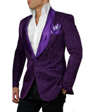 Red /Purple/ Navy Shawl Lapel Red Wedding Tuxedo Men Formal Prom Suit two Pieces (Jacket +black pants)