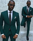 Custom Made Olive Green Peak Lapel Single Breasted Button  Groom Wedding Tuxedos for Men Slim Fit