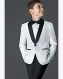 new Black/White little boys suits for weddings Child Suit tuxedo  Prom Suits blazers for boys (Jacket+Pants)