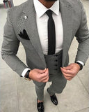 High Quality Wool Suits for Men Bird Eye Sport Jacket Suits Tweet  Men Outfits CB0711