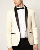 Shawl Lapel Beige Formal Wedding Suit Tuxedos for Men 2 Pieces(Jacket+pants) WX018