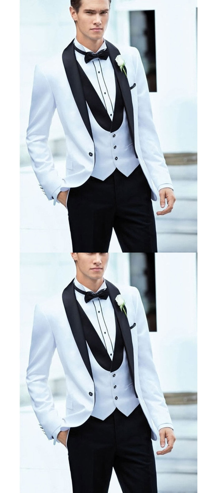 White And Black Shawl Groom Suit For Wedding Men Formal Tuxedos 3 Piec Classbydress,Casual Outdoor Wedding Dress Ideas