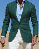 Green Men Suit Jacket Men Blazer one Piece PL475