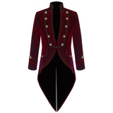 Swallow Tailed Coat Velvet Fashion Men Suits Custom Homme Terno Slim Fit Formal Blazer Men Brand Suit(jacket +pants)