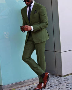 Green Wedding Suit /Tuxedo for Men,Formal Prom Party Suits two Pieces outfits (jacket +pants)