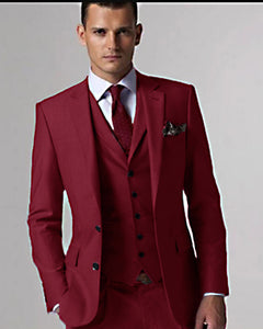 CB9951 Tailor Made Multi Color Groom Tuxedos Formal Prom Suit Wedding/Bridegroom (Jacket+Pants+Vest)