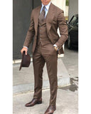 New Caramel Brown 3 Pieces Men Tuxedos Formal Suit (jacket +vest +pants) CB6523