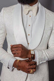 Ivory Wedding Suit for Black Men Suit Blazer Tuxedo two Pieces (jacket+pants) CB2130