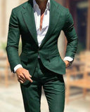 Forest Dark Green Groomsmen Blazer Suits 2 Pieces Wedding Outfits for Men CB101140