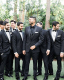 Black Wedding Suits for Men Groomsmen Tuxedo 2 Pieces (Jacket+Pants) CB0706