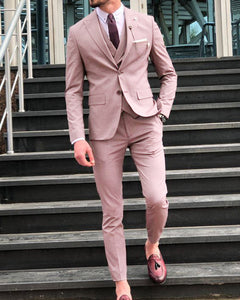 Mauve /Dust Pink Men's Wedding Suits 3 Pieces Formal Dress Suit CB09020