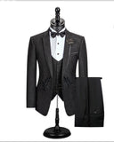 Paisley Pattern Dinner Jacket  Wedding Prom Suits 3 Pieces  Single button For Men Stylish Jacket Outfit CB05092