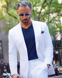 White Formal Dress Suits Wedding Groom Suit 2 Pieces (jacket +pants) CB0805