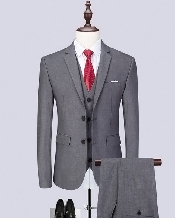 Online Slim Fit Charcoal Gray Groomsmen Suits Design 3 Pieces (Jacket+Pants +vest)CB0923