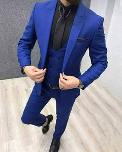 Royal Blue Men Tuxedo  3 Pieces Blazer CB3321
