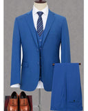 Slim Fit Royal Blue 3 Pieces Wedding Men Suits Formal Dinner Jacket CB0826 (Jakcet +vest Pants)