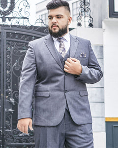 Gray Wedding Plus size Suits for Men 3 Pieces Blazer Business Suits CB08241