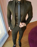 Dark Army Green Men's Suits for Men Smart Formal Coat Blazer, Prom Suits 3 Pieces CB1020