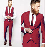Blue/Red /Green Multi Color Handsome Men Wedding Suits / Tuxedos 3 Pieces Outfit CB6655