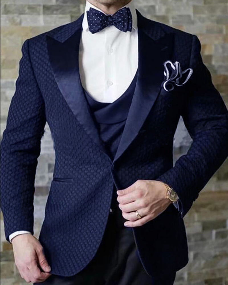 2020 Elegant Brand Slim Fit Smoking Suit Men Costume 3 Pieces Homme Wh Classbydress