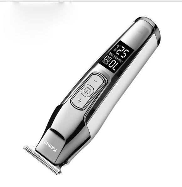 Professional Hair Clipper All Metal Men Electric Cordless Hair Trimmer 0mm-3mm Baldheaded