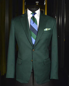 Dark Green Prom Party Suits Formal Dinner Tuxedos 2 Pieces Blazer Jakcet +green Pants CB0630
