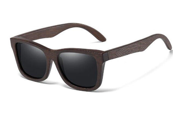 Natural Bamboo Wooden Sunglasses for Men Sun glasses Driving Square Style GS0816