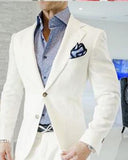Ivory Blazer Jacket with Pants Dinnner Suits for Men CB1012