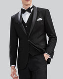 Classby Shawl Lapel Navy/Black Groom Tuxedos Formal Men Wedding Suits 3 Pieces CB0918 (Jacket +vest+pants))