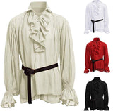 Steampunk Victorian Pirate Cosplay Costume Tops  Lace Up  CS10118