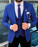 Best  Men/Groomsmen Red/blue/green Dress Suits for Wedding 3 Pieces (Jacket +waist+ Pants)