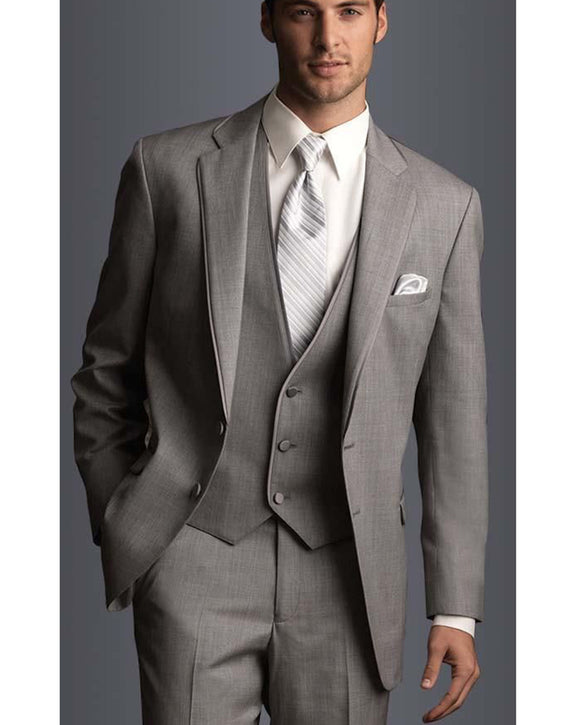 Dark Taupe Gray Gentle Men Suits Wedding Groomsmen Tuxedos 3 Pieces (jacket+pants+vest)CB660)