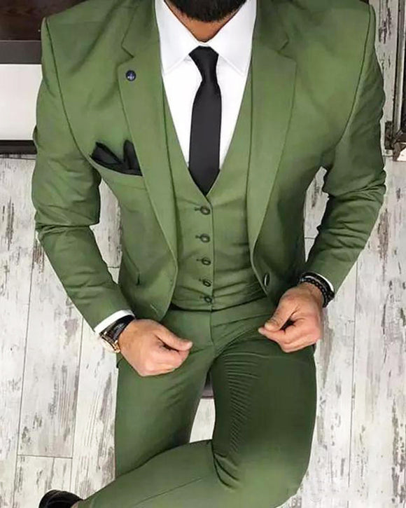Army green Men Blazer Prom Suit Outfits for Graduation Wedding Suits Green CB0913
