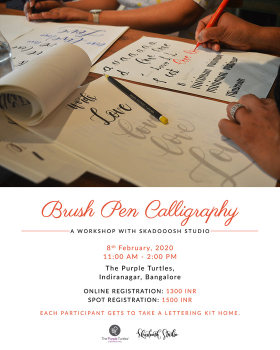 Brush Pen Calligraphy Workshop