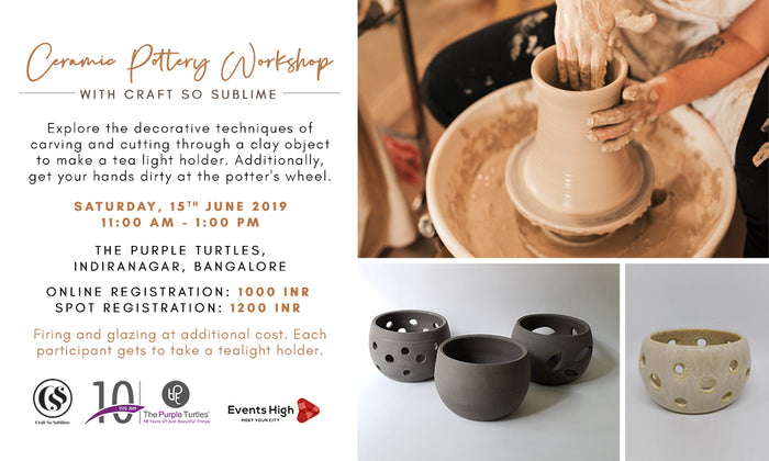 Ceramic Pottery and Clay Carving workshop