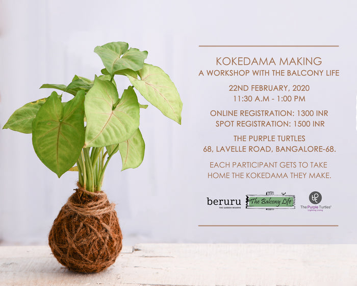 Kokedama Making Workshop with Beruru