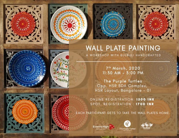 Wall Plate Painting Workshop: 7th March