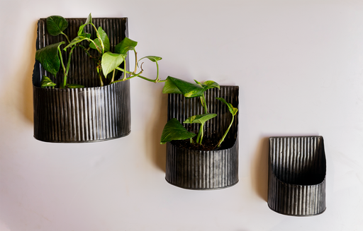 Galvanized Wall Hanging Planter