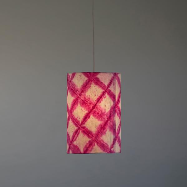Tower Shibori Pendant Lamp (Magenta Diamond)