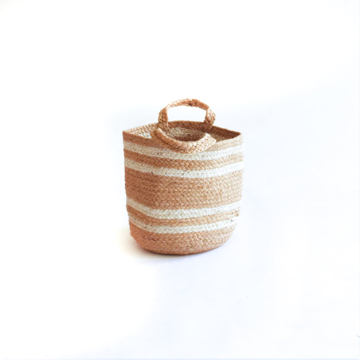 Natural White Jute Planter