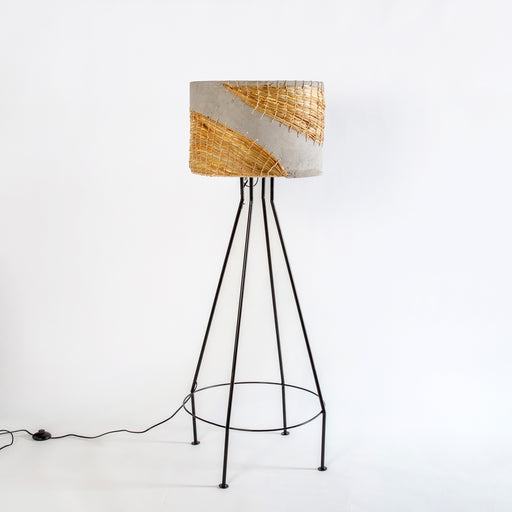 Aurora Floor Lamp with Water Hyacinth