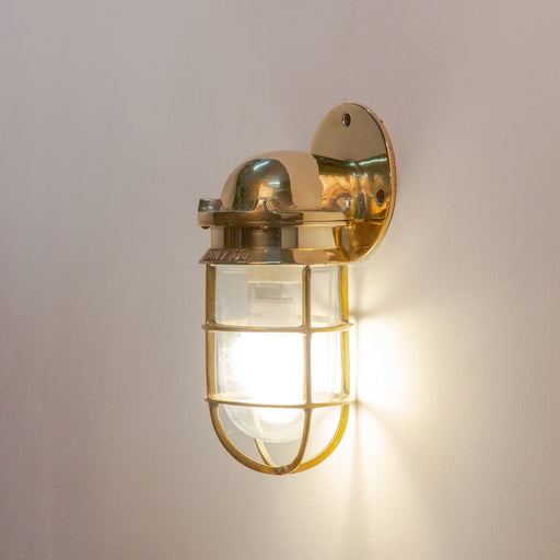 Brass Casted Flat Wall Lamp