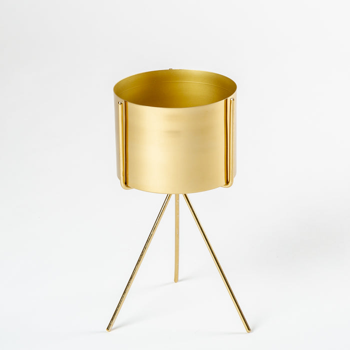 Golden Frustum Planter