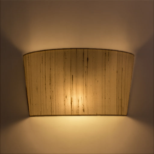 Half White Silk Wall Lamp