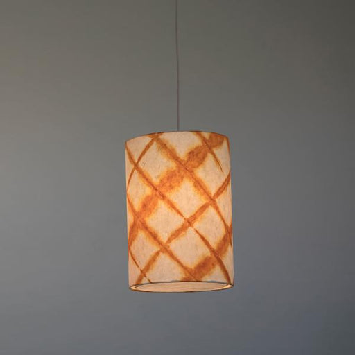 Tower Shibori Pendant Lamp (Orange diamond)