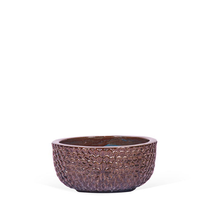 Ceramic Planter Bowl - Mystic Blue