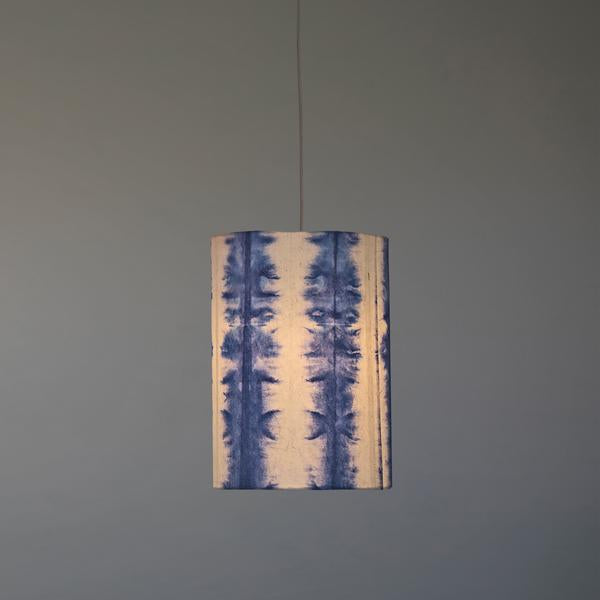 Tower Shibori Pendant Lamp (Blue Line)