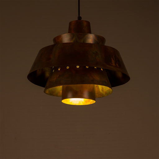 Beryl Antique Brass Pendant Lamp
