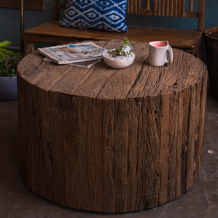 Bark Coffee Table (with Wheels)