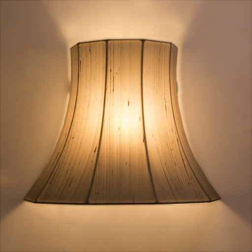 Napolean Raw Silk Off White Wall Lamp